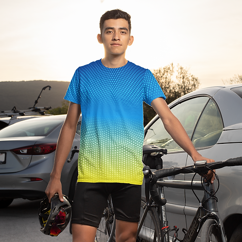 Multicolour Halftone Printed Super Dry Sports Tee by Hyparocks