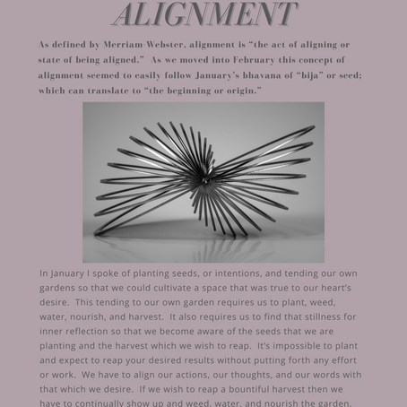 "february's bhavana - ""alignment"""