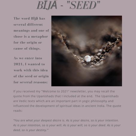 """january's bhavana - bīja  - """"seed"""""""