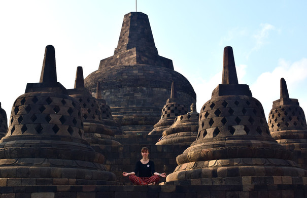 Borobudur Temple, Indonésie