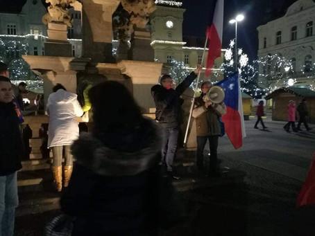 Petiční akce v Ostravě 13. 12. 2020