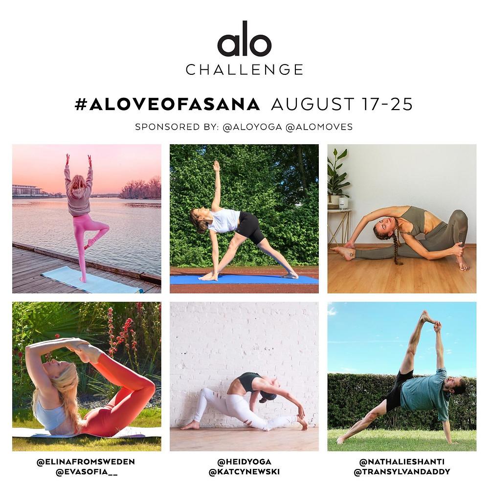 Alo Yoga challenge august