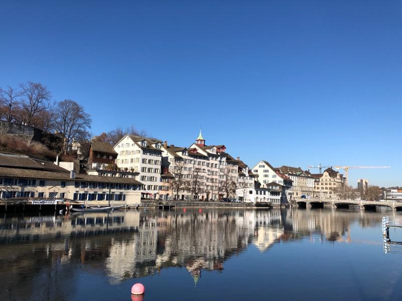 zurich switzerland canal limmat