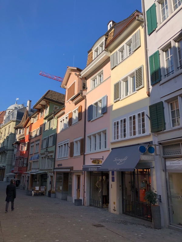 colored row houses europe