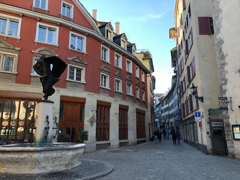 zurich switzerland alley old town