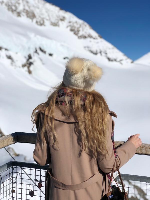 fuzzy pom pom hat white