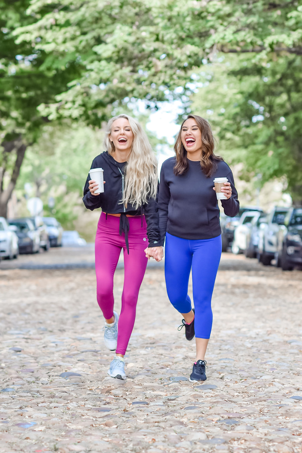 fitness girls laughing