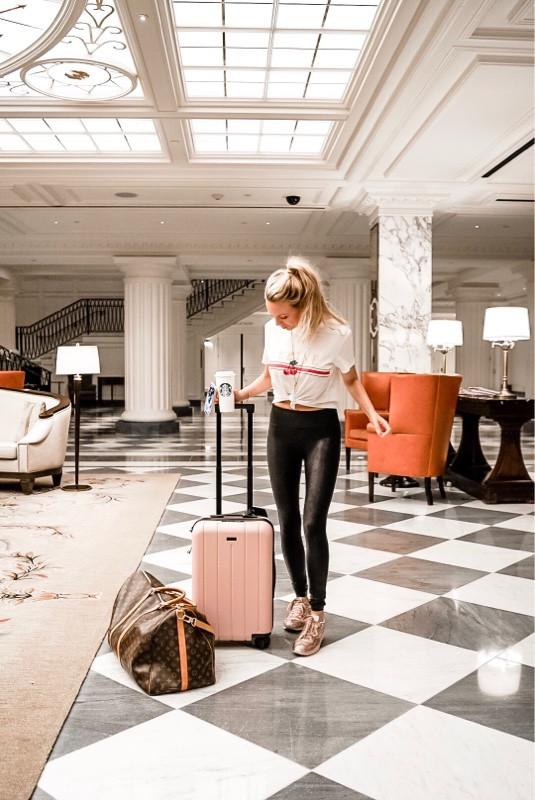 traveling girl louis vuitton duffel bag