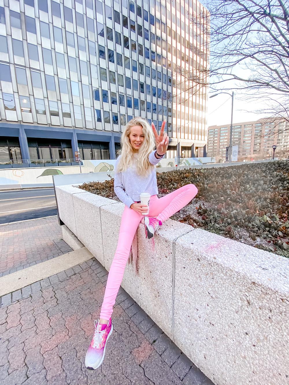alo yoga goddess leggings macaroon pink discount