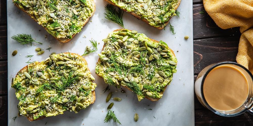 avocado toast vegan