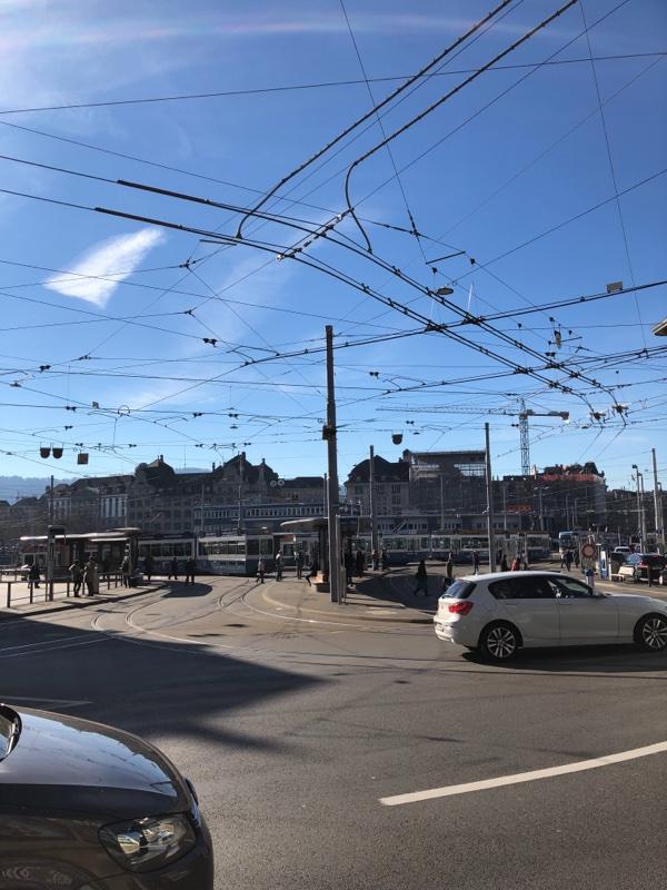 tram cables zurich citycenter