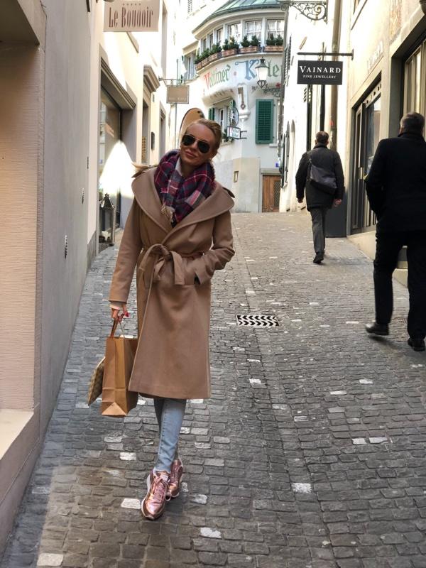 tie waist camel coat