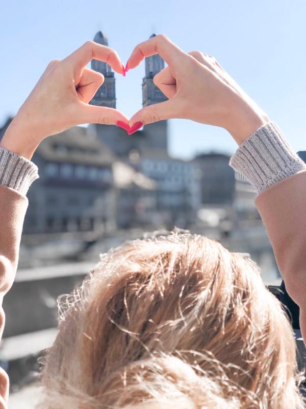 zurich grossmunster church heart hands instagram