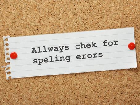 Spelling Errors? You Must be Kidding