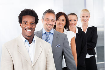 Group Of Happy Multiracial Businesspeopl