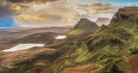 EARLY SUN OVER THE QUIRAING