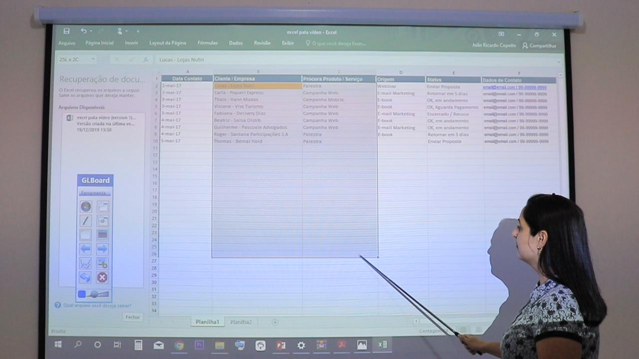 Tela Interativa Excel