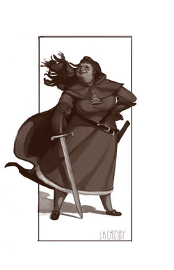 lady sword - grey