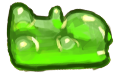 Gum bear green - Tardis Robot