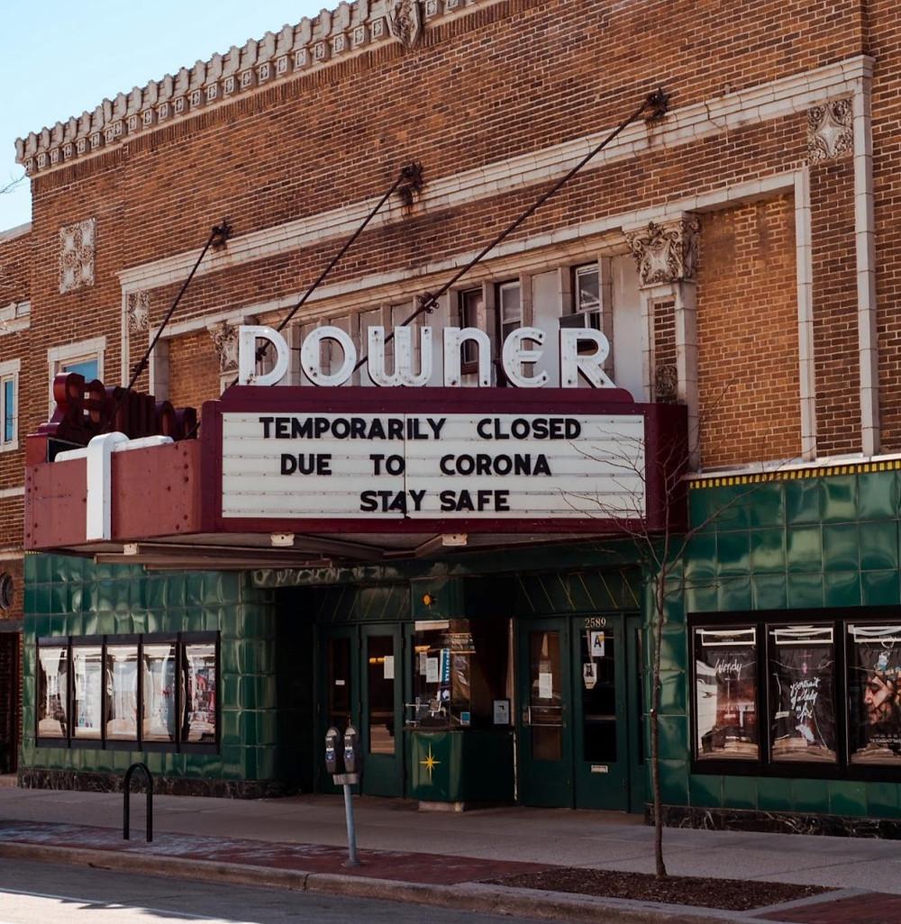 Downer Theater Milwaukee, closed due to CoronaVirus Pandemic in 2020