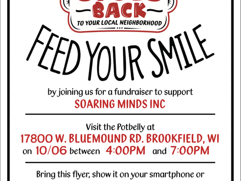 Potbelly Fundraiser on October 6th, 2018