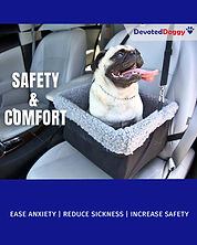 Safety car seat for dogs, one of the best available. Stroganoff the dachshund uses this one.