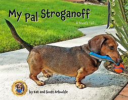 My Pal Stroganoff, A Doxie's Tail children's book front cover.