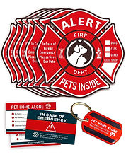 Some of the best pet alert stickers for first responders. These are bright red and easy to see.