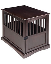 Wooden dog kennel, or dog crate. A very nice all wood dog crate.