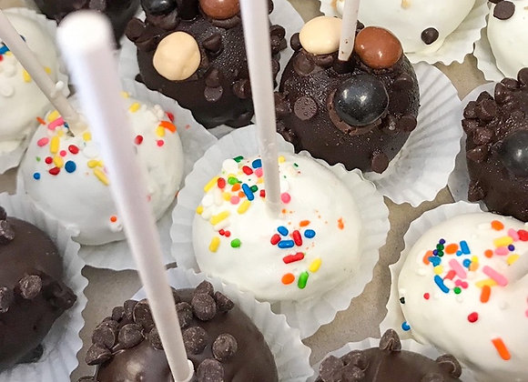 Cake Pops $13.50 for Six or $23.99/Dozen (3 Day Lead Time for Custom Flavors)