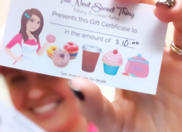 $10 or $25 Gift Cards