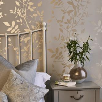 Prestious textile wallpaper