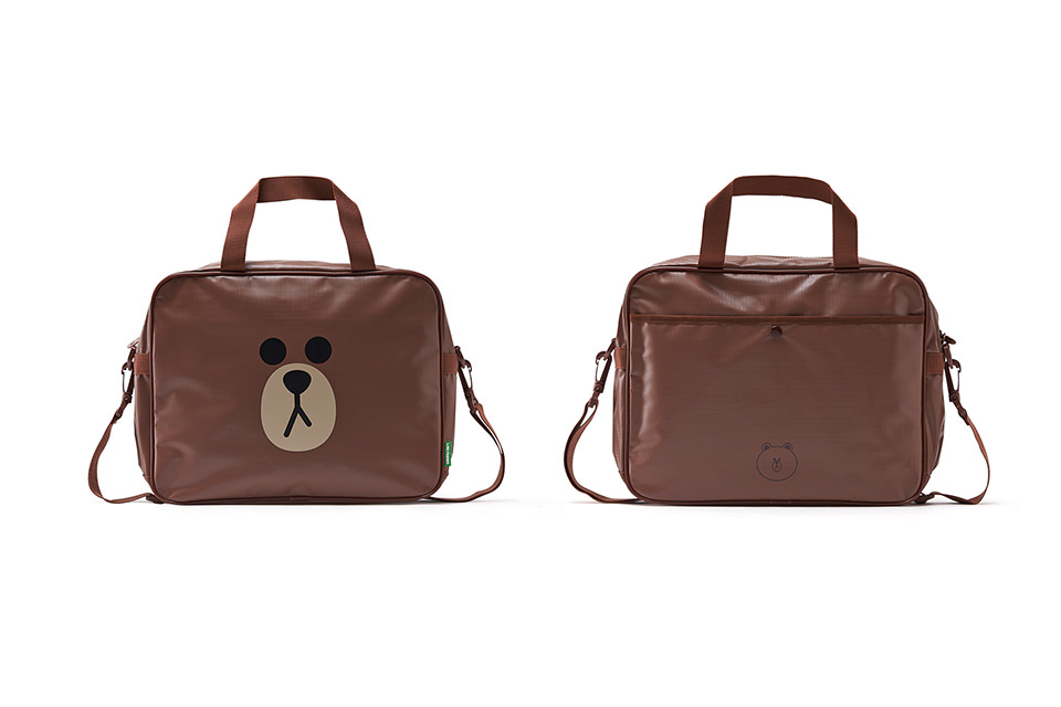 LINE FRIENDS PVC BAG_BROWN