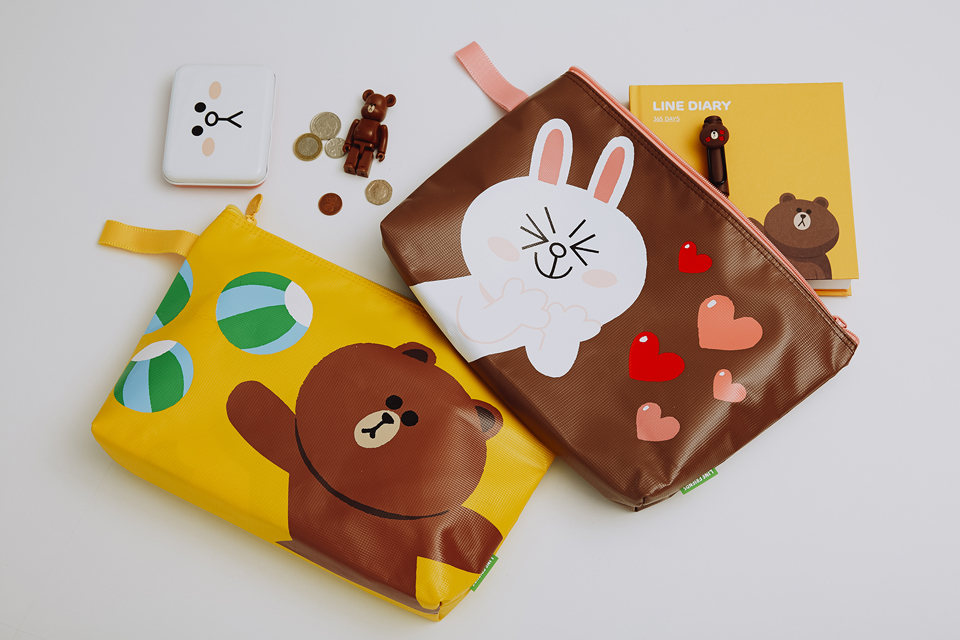 LINE FRIENDS PVC POUCH
