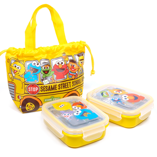 SESAME STREET LUNCH CASE POUCH SET