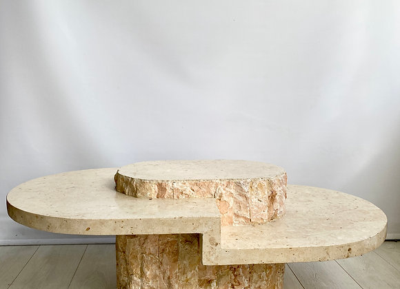 Vintage tessellated stone coffee table