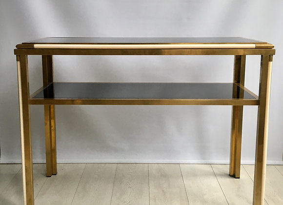 SOLD Vintage Italian brass console table