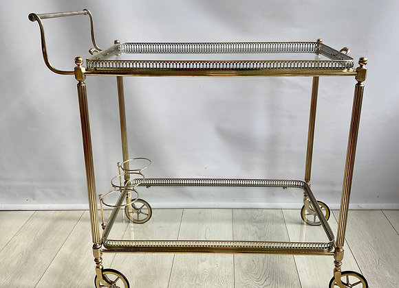 SOLD Vintage brass drinks trolley bar cart ref 2320