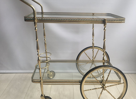 Classic French brass drinks trolley (ref 2752)