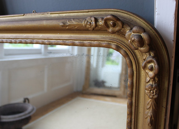 SOLD DECORATIVE ANTIQUE FRENCH ARCH MIRROR