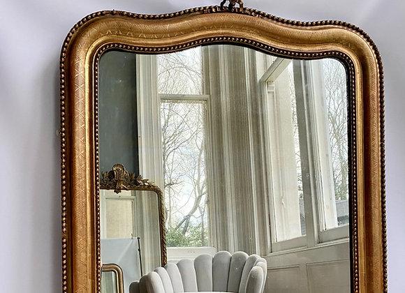 Antique French Louis Philippe gilt Arch mirror ref 3500