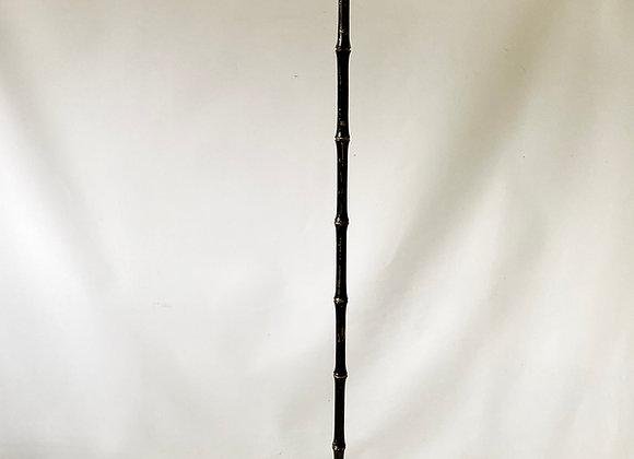 Ebonised brass faux bamboo lamp