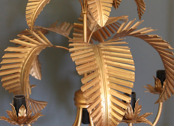 French palm light/chandelier - sold