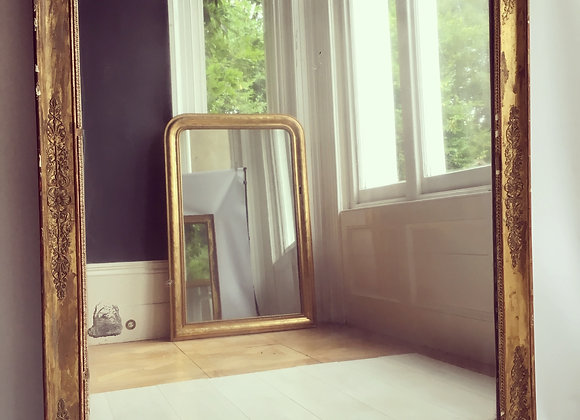 SOLD Antique French gilt mirror