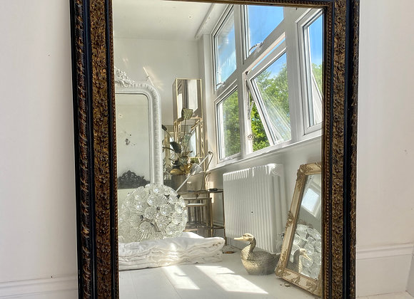 SOLD Antique French Ebonised mirror