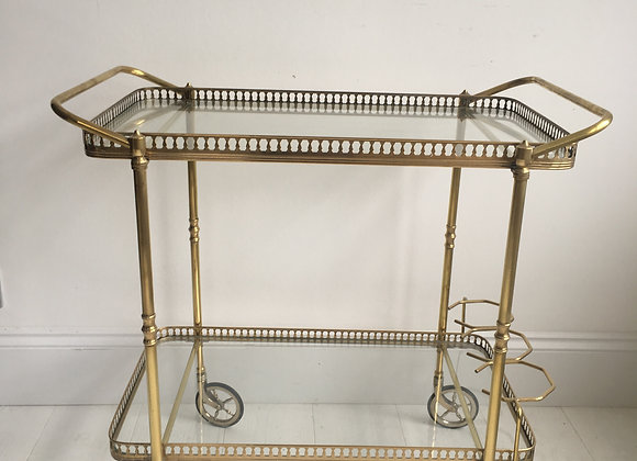 SOLD Vintage French brass drinks trolley bar cart (ref 2085)