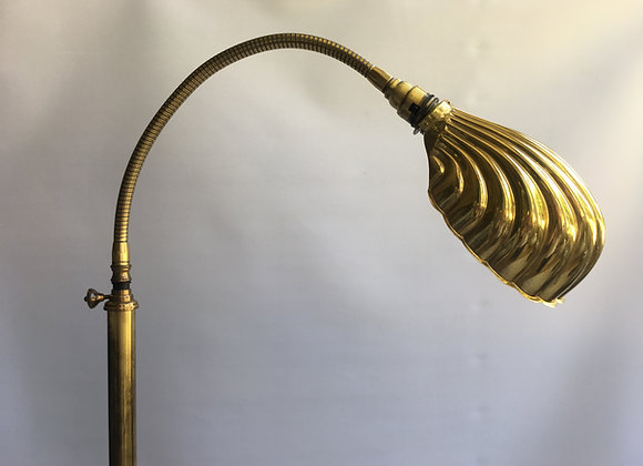 SOLD Vintage goose neck clam shell standard lamp