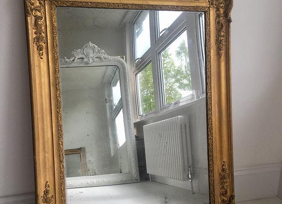 SOLD Pretty antique French gilt mirror