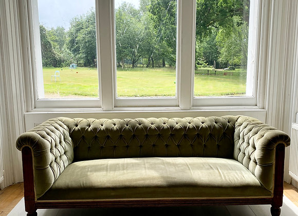 SOLD Edwardian chesterfield sofa