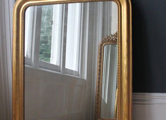 LARGE ANTIQUE FRENCH LOUIS PHILIPPE GILT MIRROR